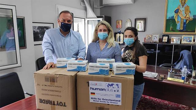 Δωρεά-3000-χειρουργικών-μασκών-από-τη-human-plus-e.v-στον-Δήμο-Θάσου