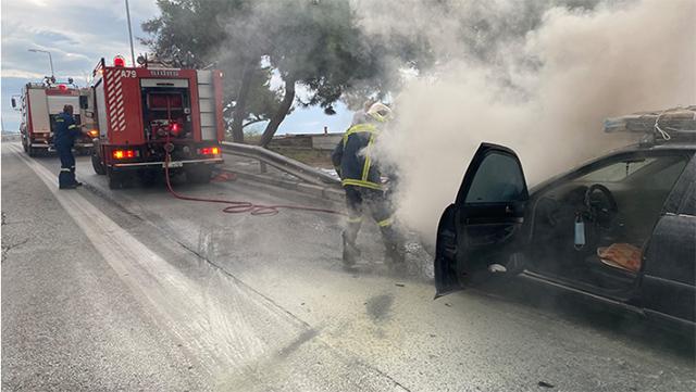 Καβάλα:-Πυρκαγιά-σε-αυτοκίνητο
