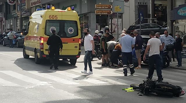Καβάλα:-Οδηγός-δικύκλου-τραυματίστηκε-σε-τροχαίο