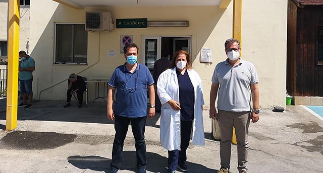 Επίσκεψη-του-Αντιπεριφερειάρχη-Καβάλας-στο-Κέντρο-Υγείας-Ελευθερούπολης
