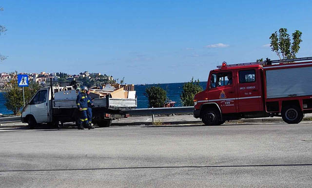 Καβάλα:-Πυρκαγιά-σε-ημιφορτηγό